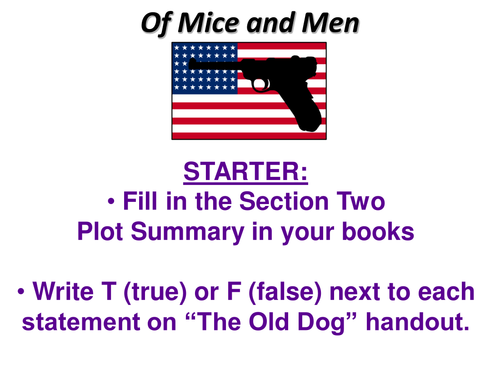 Of Mice and Men 2 Lesson Part Two