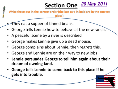 Of Mice and Men --student analysis and activities