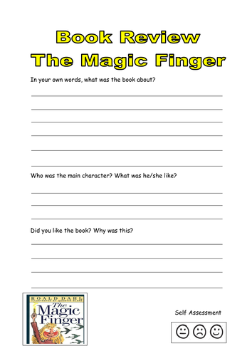 Book Cover Template Tes : Comprehension work book for the magic finger by