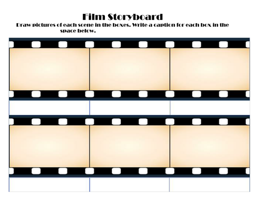 Film And Comic Storyboards By Torie1234 Teaching Resources Tes