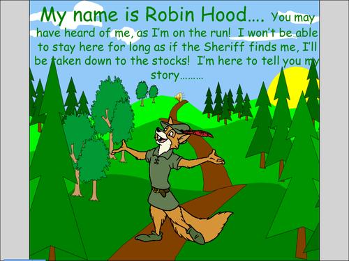 robin hood story  teaching resources