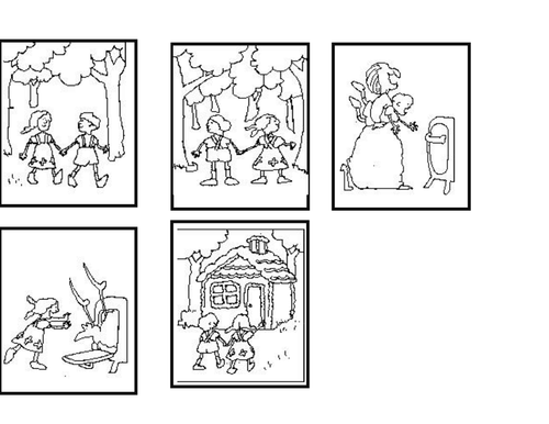 Hansel and Gretel sequencing cards