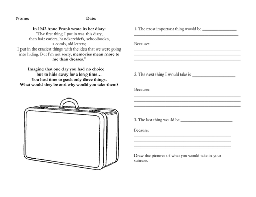 Printables Diary Of Anne Frank Worksheets writing anne franks diary lesson plan resources by annalouiseb teaching tes