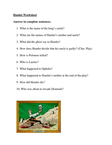 short essay questions for hamlet