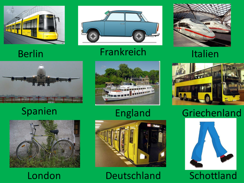 German countries and public transport xoX game