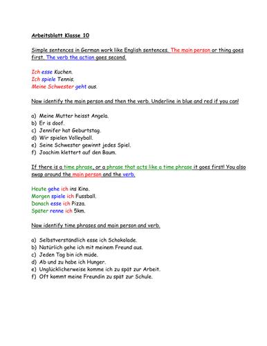 Connectives und Übungen (exercizes) by Rovena - Teaching Resources - Tes