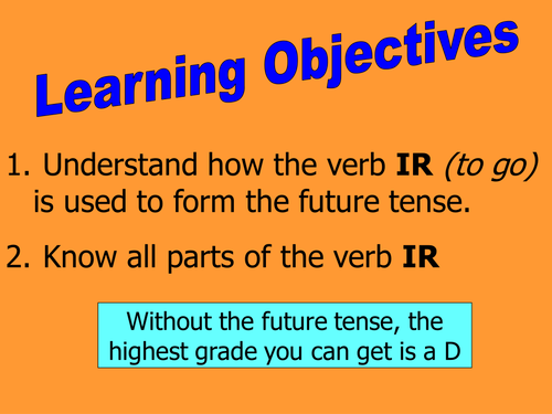 Mini whiteboard game ir a infinitive future by rosaespanola – Ir a Infinitive Worksheet