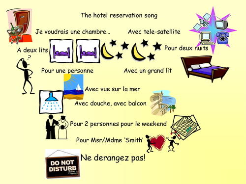 Song - booking a hotel