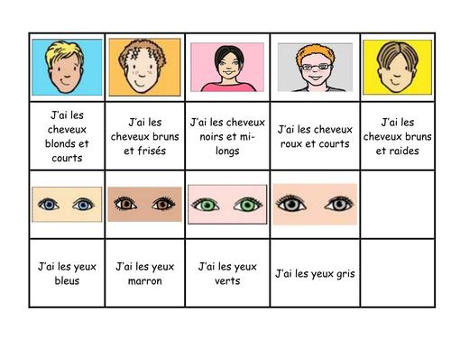 Descriptions pairs game