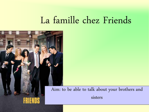 Friends family PowerPoint