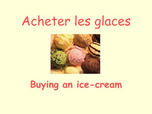 Buying ice-creams