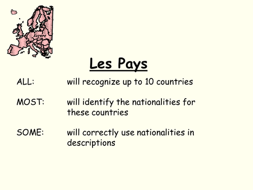 European Countries and Nationalities (French)