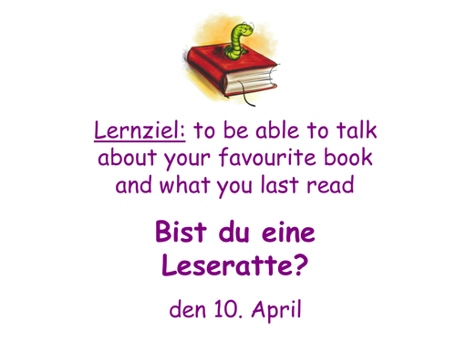 Bist du eine Leseratte? - media reading German