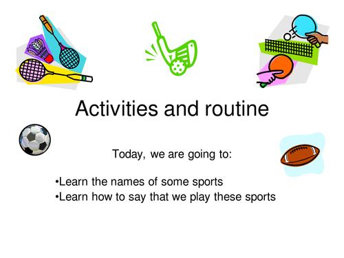 Jouer + sports