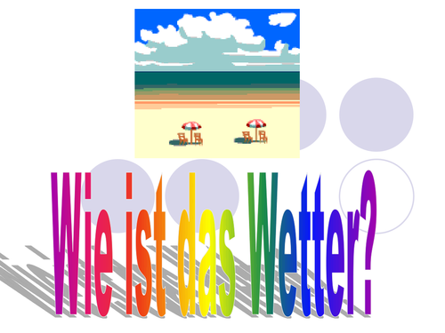 PowerPoint to present weather.