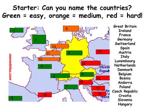 German-speaking countries quiz