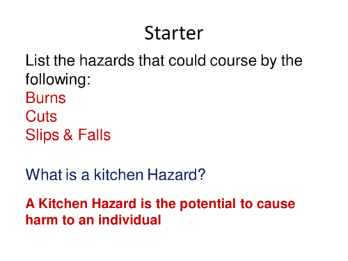 Kitchen First Aid Health and Safety