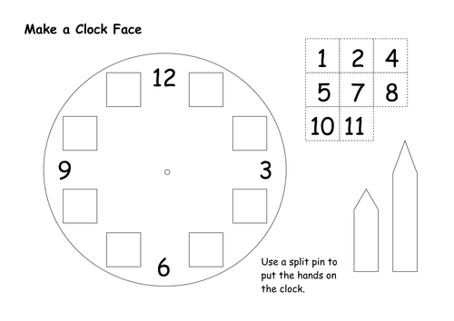 Clock Face Template By Bagpussfan Teaching Resources