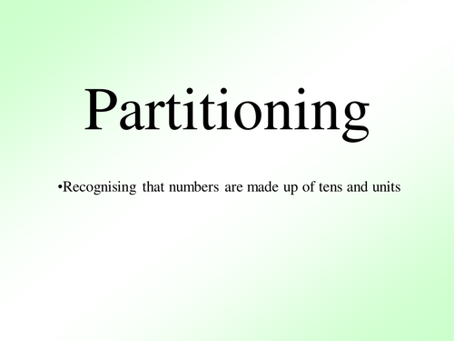 Basic partitioning