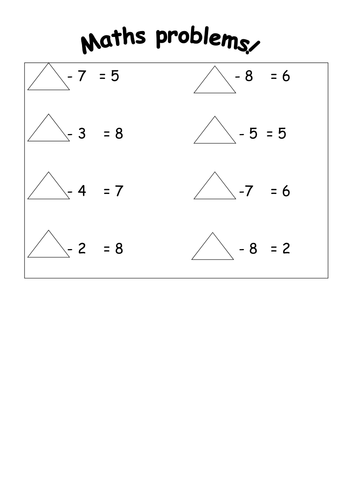 Subtraction Worksheets : subtraction worksheets within 20 ...