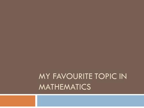 My presentation for high school Mathematics interview
