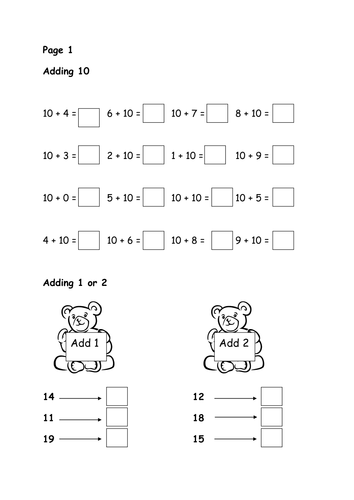 Addition Worksheets » Addition Worksheets Within 20 - Preschool ...