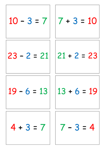 Inverse Operations   Addition and Subtraction   Teaching ...