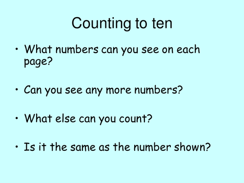 Number Recognition & counting PPP