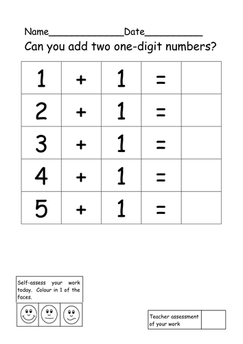 differentiated adding one digit numbers together by ruthbentham teaching resources. Black Bedroom Furniture Sets. Home Design Ideas