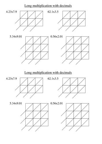 ks4 worksheet l6 gelosia decimal multiplication by mrbuckton4maths teaching resources tes. Black Bedroom Furniture Sets. Home Design Ideas