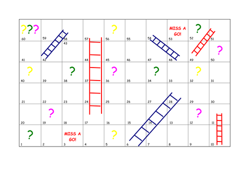 math and Ladders (Board Game)