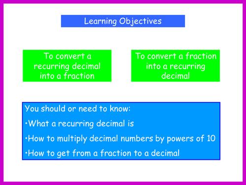 Recurring decimals Game worksheet powerpoint by k7t9b – Repeating Decimals Worksheet