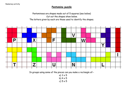Remarkable image intended for pentominoes printable