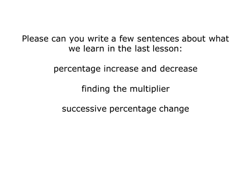 Successive Percentage Change Compound Interest by clongmoor – Compound Interest Word Problems Worksheet