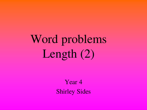 Length Word Problems
