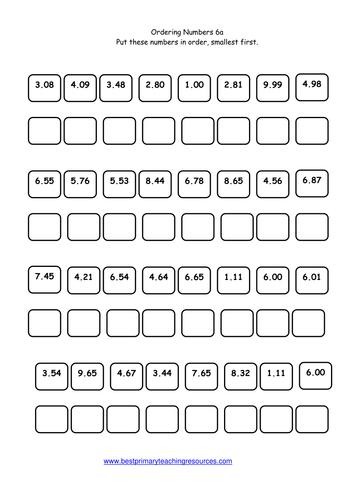Ordering Numbers Worksheet Reception - Livinghealthybulletin