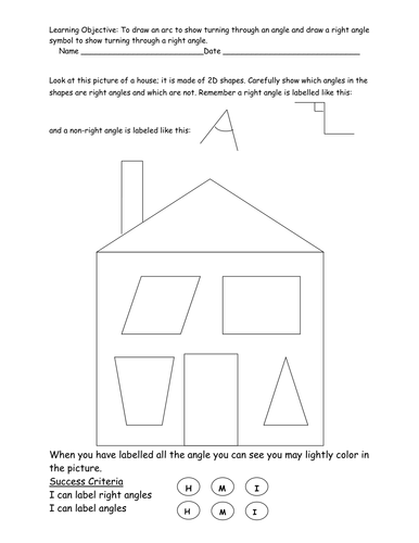 Labeling angles and right angles