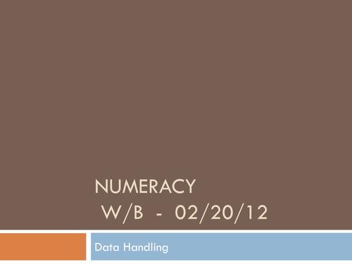 Data Handling PowerPoint
