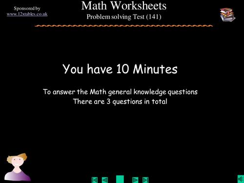 Math Problem Solving Tasks 1
