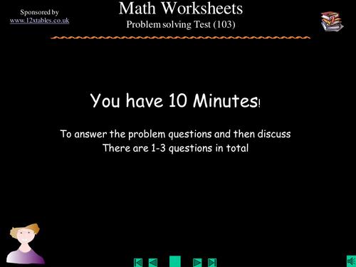 Math Problem Soving Tasks 8