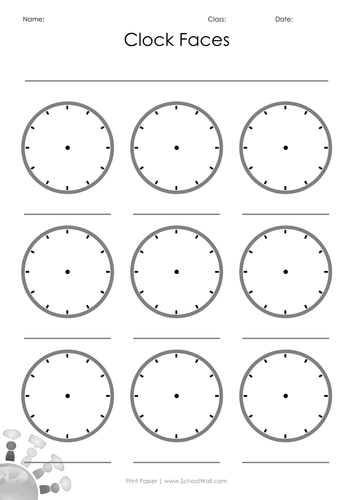 Blank Clock Faces By Leannegwilliam Teaching Resources