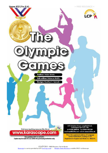 Olympic Resources - Grades 2-5