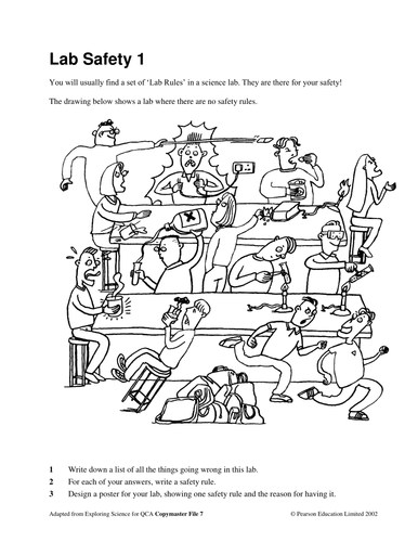 Printables Lab Safety Cartoon Worksheet lab safety by kscience teaching resources tes