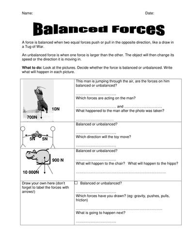 Balanced Forces handout