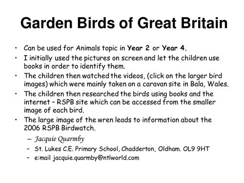Garden Birds of Great Britain