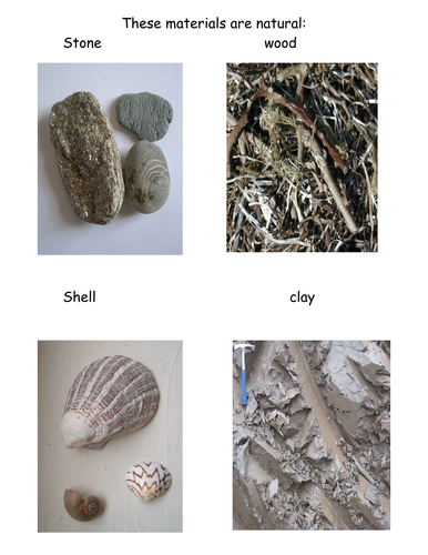 Color pictures of natural materials