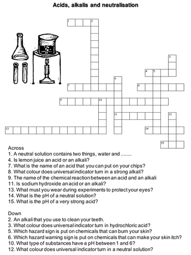 acid alkali crossword by suzysmith teaching resources tes. Black Bedroom Furniture Sets. Home Design Ideas