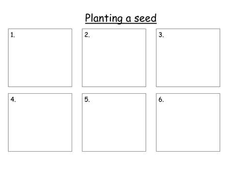 Planting a seed - cut and stick activity by rachyben | Teaching ...