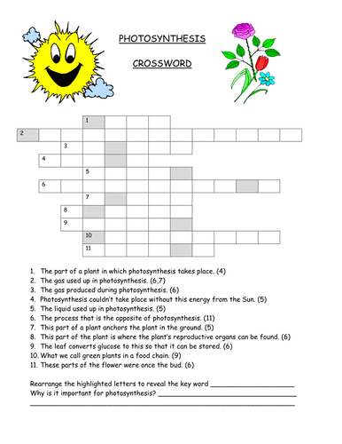 photosynthesis crossword by gregodowd teaching resources tes. Black Bedroom Furniture Sets. Home Design Ideas