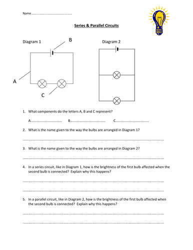 Series Parallel Circuits Worksheet